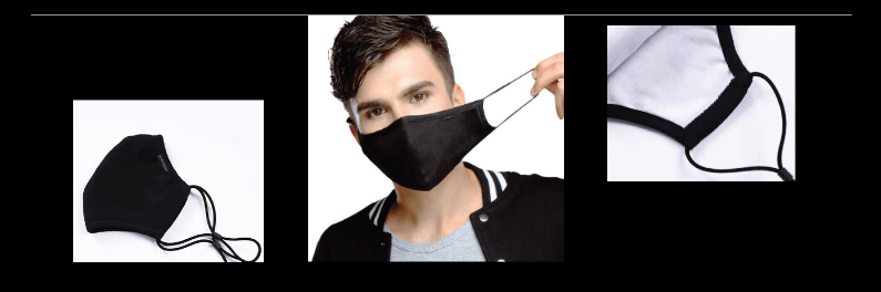 Ultifresh reusable mask with adjustable earloop