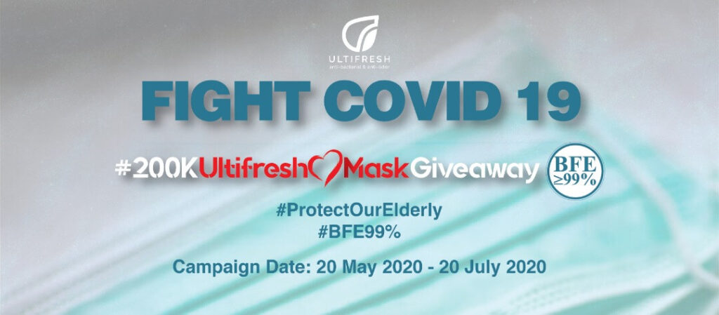 200k Ultifresh mask Giveaway to protect Elderly