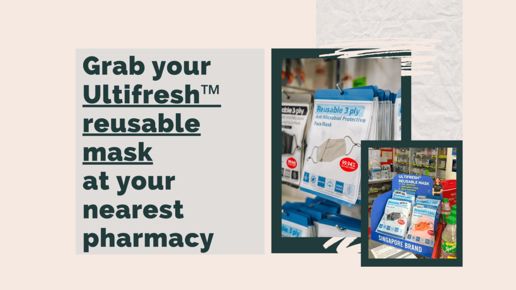 Ultifresh Reusable Face Masks are selling at the pharmacies